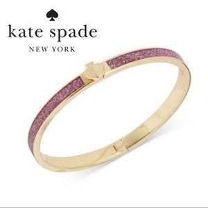 NWT KATE SPADE Pink and Gold Bangle Bracelet